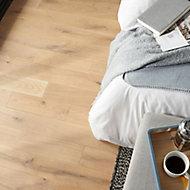 GoodHome Lulea Natural Wood Solid wood flooring, 1.01m² Pack