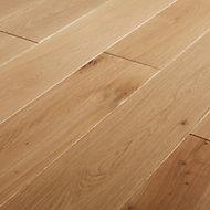 GoodHome Lulea Natural Wood Solid wood flooring, 1.26m² Pack
