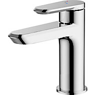 GoodHome Lynton 1 lever Chrome-plated Contemporary Basin Mono mixer Tap