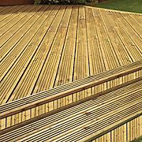 GoodHome Madeira Green Spruce Deck board (L)2.4m (W)120mm (T)24mm