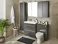 GoodHome Mila Counter-mounted Counter top Basin