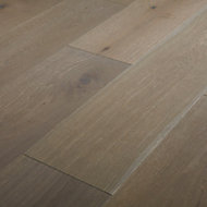 GoodHome Nephin Grey Oak Real wood top layer flooring, 1.58m² Pack