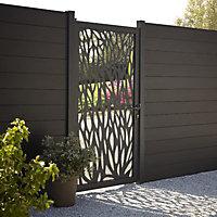 GoodHome Neva Aluminium Leaf Gate, (H)1.7m (W)0.93m