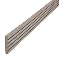 GoodHome Neva Solid Composite Finishing profile Taupe (L)2200mm, Pack of 2