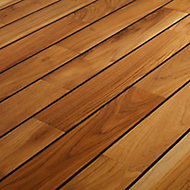 GoodHome Pattani Natural Teak Solid wood Flooring, 1.296m² Set