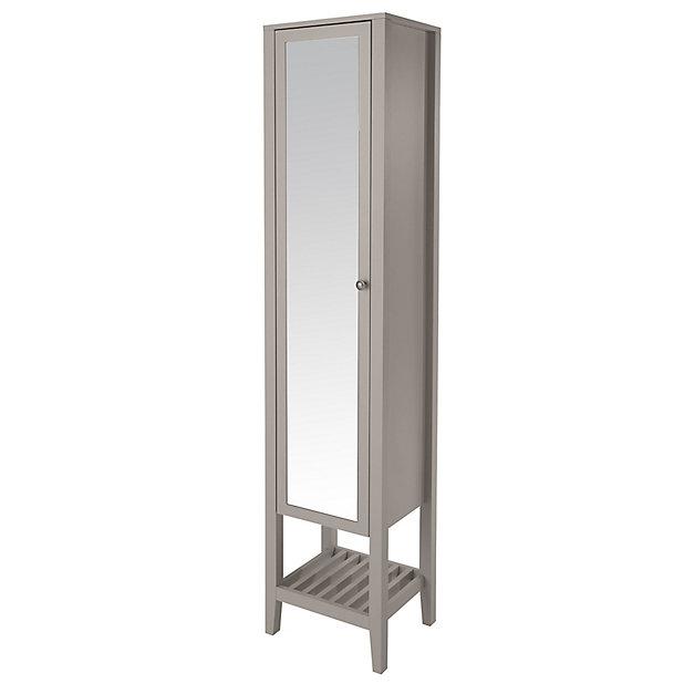 Goodhome Perma Satin Grey Tall, Ikea Mirror Cabinet Tall