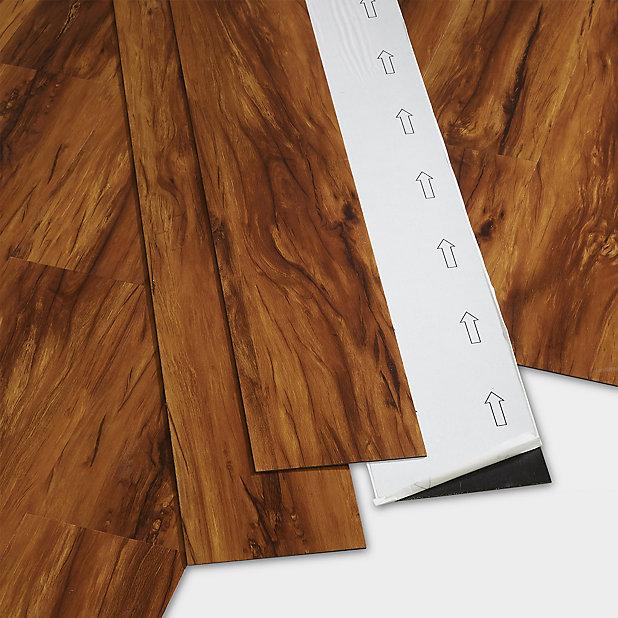Goodhome Poprock Dolce Wood Planks, Self Adhesive Laminate Flooring