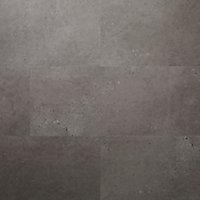 GoodHome Poprock Grey Tile Stone effect Self adhesive Vinyl tile, Pack of 7