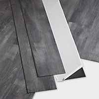 GoodHome Poprock Grey Wood planks Wood effect Self adhesive Vinyl plank, Pack of 8