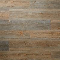 GoodHome Poprock Pecan Wood planks Wood effect Self adhesive Vinyl plank, Pack of 8