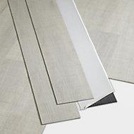 GoodHome Poprock Silver Wood planks Wood effect Self adhesive Vinyl plank, Pack of 8