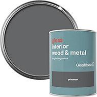 GoodHome Princeton Gloss Metal & wood paint, 0.75L