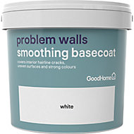 GoodHome Problem Walls White Basecoat, 5L