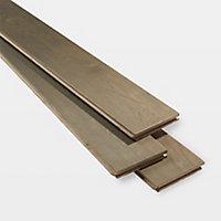 GoodHome Saffle Grey Oak Solid wood Flooring, 1.56m² Set