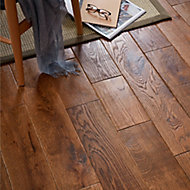 GoodHome Skanor wide Natural Wood Solid wood flooring, 1.8m² Pack