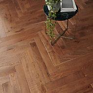 GoodHome Skara Natural Wood Solid wood flooring, 0.86m² Pack