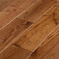 GoodHome Skara Natural Wood Solid wood flooring, 1.48m² Pack