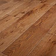 GoodHome Skara Natural Wood Solid wood flooring, 1.8m² Pack