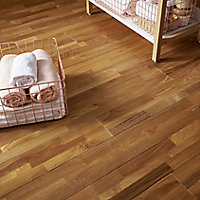 GoodHome Surin Natural Wood Solid wood flooring, 1.15m² Pack