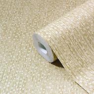 GoodHome Tarenna Gold effect Textured Wallpaper