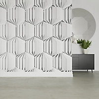 GoodHome Tawa White Illusion Matt Mural
