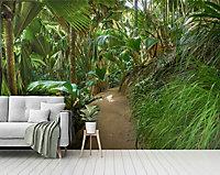 GoodHome Teline Green Jungle Matt Mural