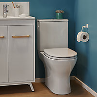 GoodHome Valois Close-coupled Rimless Toilet set with Soft close seat