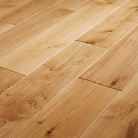 GoodHome Visby Natural Wood Solid wood flooring, 1.15m² Pack