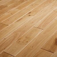 GoodHome Visby Natural Wood Solid wood flooring, 1.29m² Pack