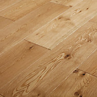 GoodHome Ystad Natural Wood Solid wood flooring, 1.44m² Pack