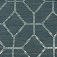 Graham & Brown Boutique Asscher Teal Geometric Textured Wallpaper