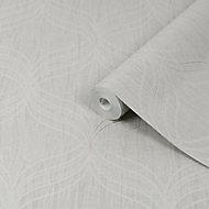 Graham & Brown Boutique Optical Grey Geometric Textured Wallpaper
