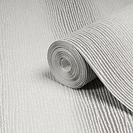 Graham & Brown Boutique Valentino Striped Glitter effect Textured Wallpaper