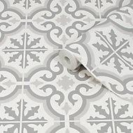 Graham & Brown Contour Grey Tile effect Textured Wallpaper