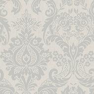Graham & Brown Superfresco Colours Silver effect Wallpaper