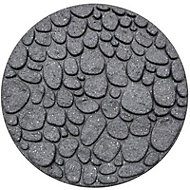 Grey Single size River rock Stepping stone 0.2m²