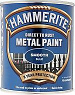 Hammerite Blue Gloss Metal paint, 0.75L