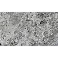Haver Anthracite Matt Travertine effect Ceramic Wall & floor tile, Pack of 6, (L)600mm (W)300mm
