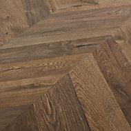 Helston Natural Oak effect High-density fibreboard (HDF) Laminate Flooring Sample