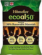 Homefire Ecoal Smokeless Solid fuel briquettes, 10kg