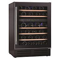 Hoover HWCB60UK Black Stainless steel effect 46 bottles Wine cooler