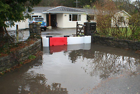 Flooding outside house