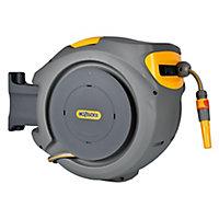 Hozelock Auto-reel Wall-mounted Hose reel & hose (L)30m