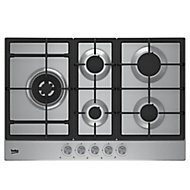 HQAW 75225 SX 5 Burner Silver Stainless steel Hob, (W)740mm