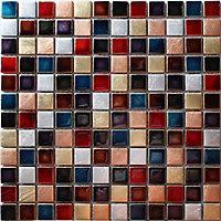 Ibiza Multicolour Handmade effect Glass Mosaic tile, (L)300mm (W)300mm