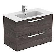 Ideal Standard Grey Wall-mounted Vanity unit & basin set (W)815mm (H)565mm