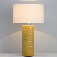 Inlight Dactyl Embossed ceramic Ochre Table light