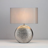 Inlight Kale Textured Polished Silver effect Table light