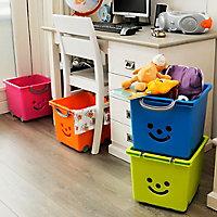 Iris Children's smiley Orange 30.6L Plastic Stackable Storage box