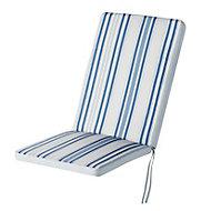 Isla Striped Blue High back seat cushion